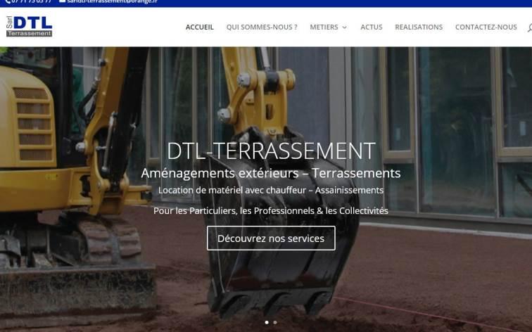 Le nouveau site Web DTL TERRASSEMENT
